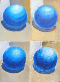 application of acrylic paint to create sphere art class value