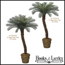 6 artificial small sago palm tree outdoor