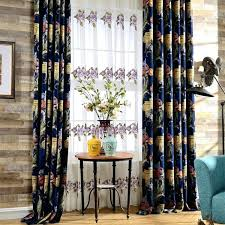 Navy Patterned Curtains Navy Blue Patterned Curtains Navy Blue Floral Chenille Thermal