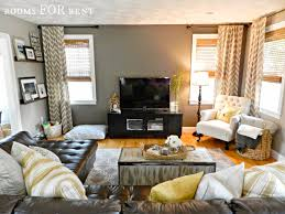 small den design ideas how to style a dark leather sofa den makeover dark walls