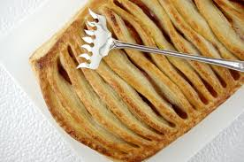nectarine jalousie tart with homemade puff pastry entries general