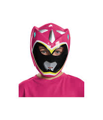 pink power ranger dino charge girls vacuform costume mask