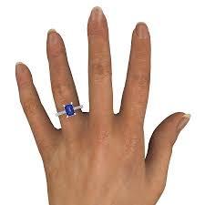 8mm diamond emerald blue sapphire platinum ring with diamond emerald cut