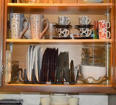 Kitchen Shelf Organization Ideas Cabinet Platter Organizer Shop Cabinet Shelf Organizers At Lowes