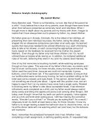 biography for mother student biography template behavior analytic autobiography br my