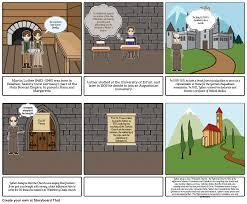 thesis of martin luther 95 theses storyboard by yerolinc