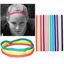 headbands that don t slip 1pcs thin sports elastic headband softball hair band rubber anti
