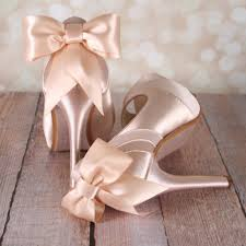 wedding shoes toe blush platform peep toe wedding shoes with matching bow ellie wren