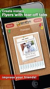 tear off tabs flyers on the app store