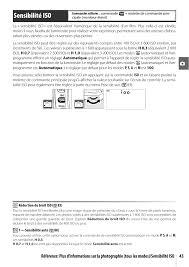 sensibilité iso nikon d80 manuel d u0027utilisation page 55 162