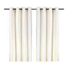 Ikea Beige Curtains Henny Rand Curtains 1 Pair White Gray Yellow Ikea