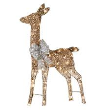 Lighted Deer Lawn Ornaments by Holiday Living Lighted Reindeer Outdoor Christmas Decoration With