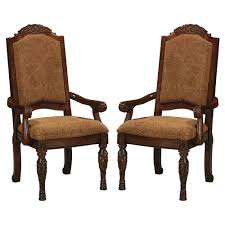 north shore dining room north shore dining upholstered arm chair set of 2 d553 02a