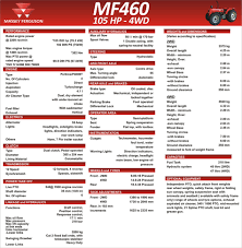 massey ferguson mf 460 tractor specifications