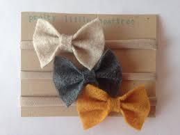 how to make headband bows oatmeal charcoal mustard felt bows set of 3 felt headband
