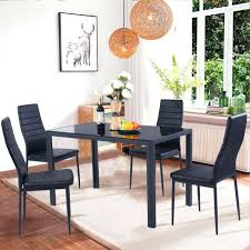 Glass Dining Sets 4 Chairs Metal Glass Dining Table Set Katecaudillo Me