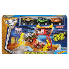 Monster Truck Bed Set Wheels Monster Jam World Finals Stunt Pack Play Set Target