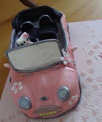 hello kitty mini cooper car cake cakecentral com