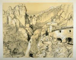 ronda andalusia tenth plate in the book sketches of spain and