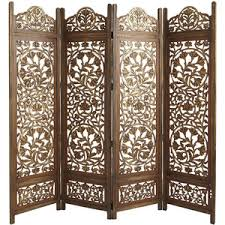 Pier One Room Divider Pier 1 Imports Kamal 4 Panel Screen Brown Polyvore