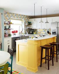 breakfast bar a yellow kitchen brightens up this north london basement
