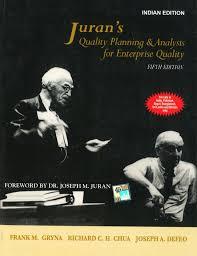 juran u0027s quality planning u0026 analysis for enterprise quality 5th