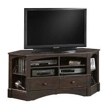 Furniture Design For Tv Corner Shop Sauder Harbor View Antiqued Paint Tv Stand At Lowes Com