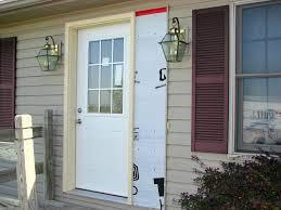 Replacing An Exterior Door Cool Design Replacing Front Door With Sidelights Charming Entry