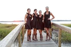 bridesmaid dresses with cowboy boots every dreams about wedding day one day