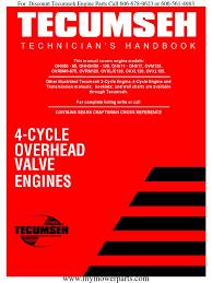 tecumseh service repair manual carburetor gasoline