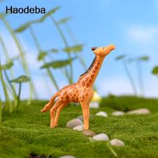 aliexpress buy haodeba miniature crafts animals giraffe