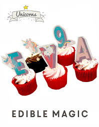 edible cake decorations unicorn letters name stand up cake toppers top my bake cake