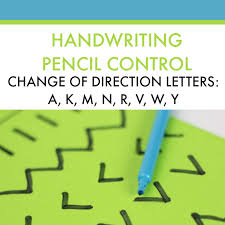 handwriting activity for direction change in letter formation