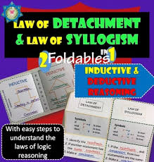foldables inductive and deductive reasoning law of detachment