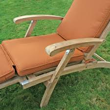 Teak Deck Chairs Sale Sunbrella Fabric Steamer Cushion Oceanic Teak Furniture Chair
