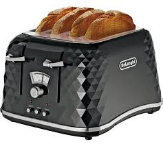 Modern Toasters Buy De U0027longhi Brillante 4 Slice Toaster Black At Argos Co Uk