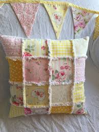 shabby chic white quilt yellow shabby patchwork throw pillow shabby patchwork nursery