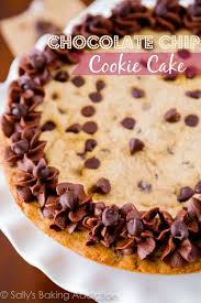 chocolate chip cookie cake recipe birthdays chocolate chips