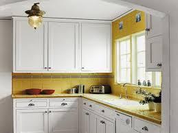 Yellow Kitchen Cabinet Unique White Kitchen Cabinets Yellow Walls 24 Midcentury Modern