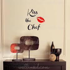 Kiss The Chef Kitchen Wall Decal