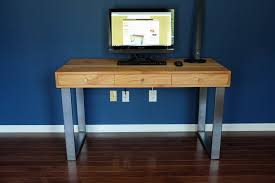 Modern Computer Desks by Modern Computer Desk With Integrated Cable Management By Ron