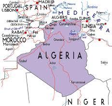 algeria physical map map of algeria in africa