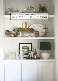 Dining Room Built Ins Before After Dining Room Built In Open Shelving Earnest Home Co
