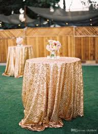 gold sequin round table cloth sparkly champagne tablecloth elegant
