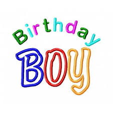 birthday boy birthday boy text applique design