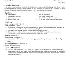 Resume Present Tense Standard Format Resume Usa Standard Format Resume Standard