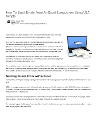How To Use A Excel Spreadsheet How To Send Emails From An Excel Spreadsheet Using Vba Scripts