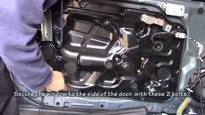 infiniti g35 window motor repair in under 9 minutes youtube