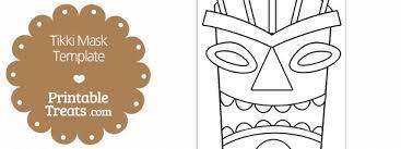 printable tiki mask template u2014 printable treats com