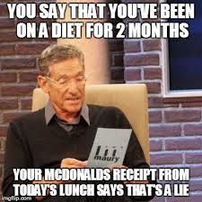On A Diet Meme - maury lie detector meme imgflip